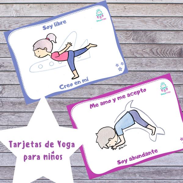 tarjetas de yoga para niños